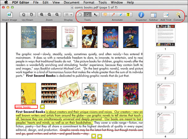 how to add text to pdf mac