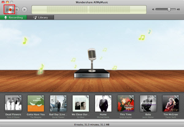 Audio Recorder for Mac - Main Screenshot