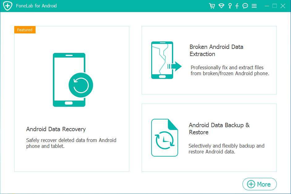 Samsung Galaxy messages Recovery – main screenshot