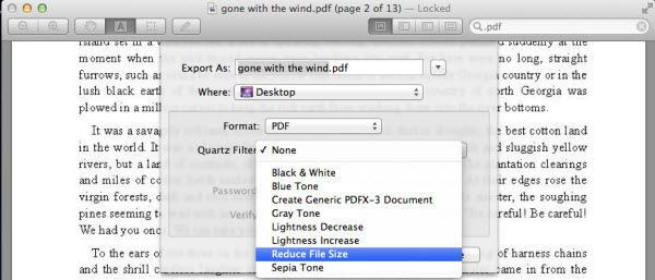 How to compress large PDF files on a Mac?