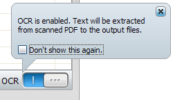 Convert pdf to PowerPoint - ocr setting