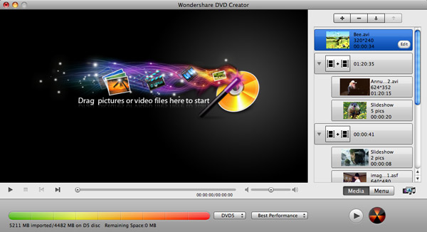 idvd alternative, idvd for mac alternative - screenshot
