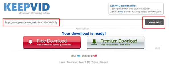 How to free download YouTube Videos with KEEPVID?