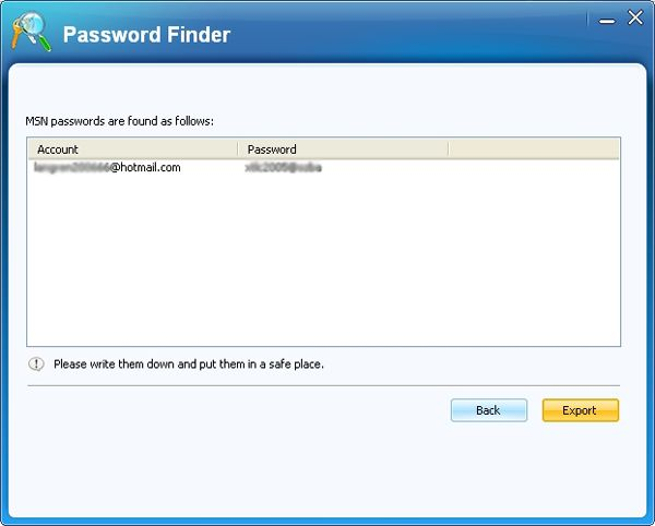 Hotmail Password Cracker, how to Crack Hotmail Password - Password Finder02