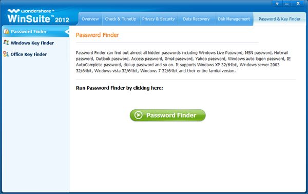 Hotmail Password Cracker, Crack Hotmail Password - Main interface