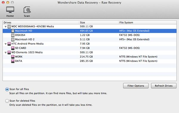 Mac format recovery, recover Mac files after formatting